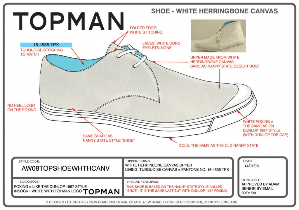 TOPMAN-SHOE-WHITE-HERRINGBONE