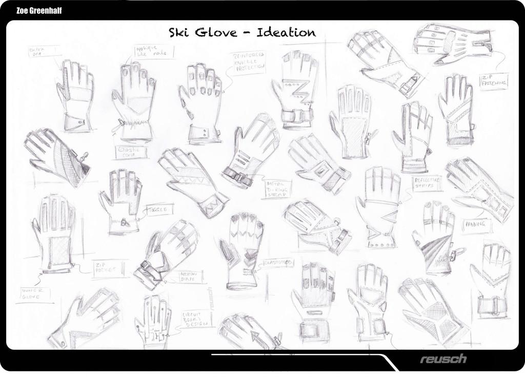 Reusch Ski Glove Ideation