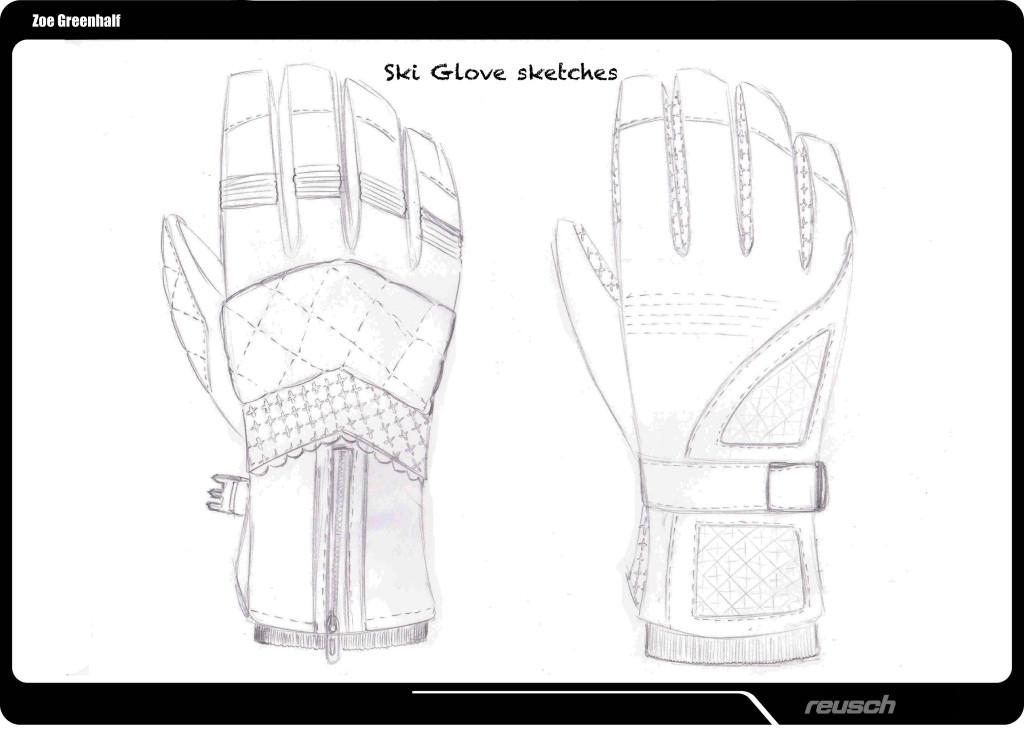 Reusch Ski Glove sketches