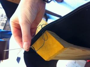 Stitching the sides...