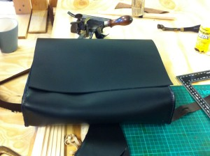 the bag starts to take shape...